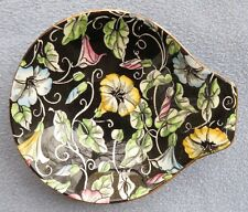 Royal Winton Morning Glory Black Floral Chintz Handled Bowl