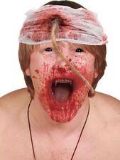 Halloween blutiger Zombie Kopfverband mit Rattenschwanz