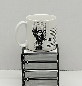 Vintage Largely Literary Coffee Cup / Mug~William Faulkner~1992