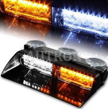 16W 16 LED Warning Lamp Vehicle Strobe Dash Flasher Emergency Light Amber/White