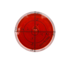 Acrylic 60mm Bullseye Red Spirit Level Large Round Circular Bubble Vial