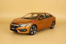 1/18 2016 China New Honda civic diecast model orange color + gift