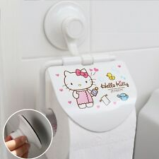 Hello Kitty Stainless Steel Bathroom Toilet Paper Roll Holder Suction