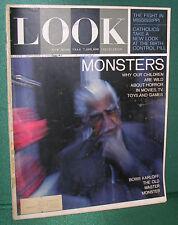 LOOK Magazine-09/08/64-Horror Movies with Boris Karloff-Sean Connery
