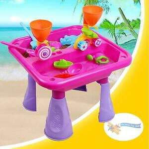 Sand and Water Table Pink Garden Sandpit Play Set Toy