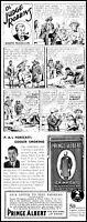 1936 Prince Albert tobacco Ol' Judge Robbins comic vintage art Print Ad  ADL17