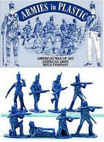 ARMIES IN PLASTIC War of 1812  American Rifle Company BLUE 16 Figures FREE SHIP