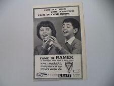 advertising Pubblicità 1960 FORMAGGINO RAMEK KRAFT