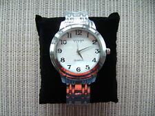 NEU  Stahl chrom Armbanduhr Unisex  Herrenuhr Damenuhr Uhr 45mm  NEU