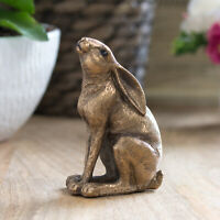 11.8cm Bronze Gazing Hare Ornament Figurine Statue Sculpture Home Decor Figure