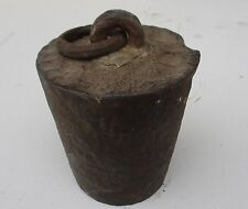 ANTIQUE HOMEMADE CAST IRON HORSE WEIGHT TIE DOWN BUGGY TETHER 28 POUNDS