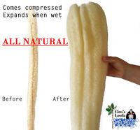 Cleo's Natural Loofah X-Large Bath Sponge | Back Scrubber | Whole Shower Loofa