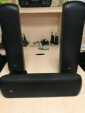 B&W VM1 speakers with 2 with Table Stands