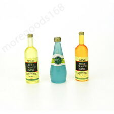 3Pcs set Doll house wine bottle 1/12 handmade accessories toy for children gift