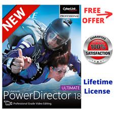 Cyberlink PowerDirector Ultimate 18 Power Video Photo Audio Editing Genuine Full