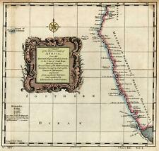 South West Africa Cape of Good Hope coastline Mataman 1747 by G. Child map