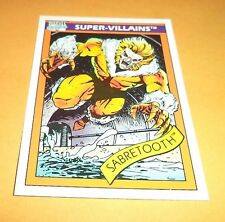 Sabretooth # 57 1990 Marvel Universe Series 1 Base Impel Trading Card