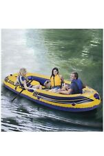 8ft Inflatable Kayak 3-Person Inflatable Raft Boat Series Explorer (a)