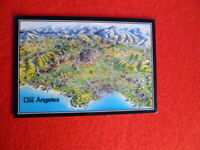 1990S  GREATER LOS ANGELES MAP  POSTCARD UNUSED  BY ACTION MARKETING