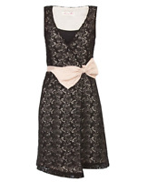 ALANNAH HILL THE SWEETEST GIRL DRESS BLACK SIZE 10 RRP$369 Cotton Lace Silk