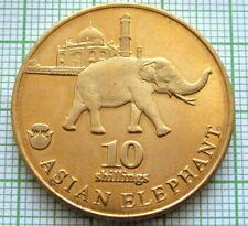 BIAFRA 2017 10 SHILLINGS, ASIAN ELEPHANT, FANTASY COIN