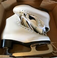 Ll Bean White Leather Thinsulate Lined Sabina Blades Ice Skates Women's 7