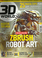 3D WORLD, JANUARY, 2015  ISSUE, 190  ( SORRY 6 HOURS OF VIDEO TUTORIALS MISSING