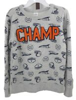 Carter's Boys Little Gray Champ Appliqued Long Sleeve Graphic Top Size 6