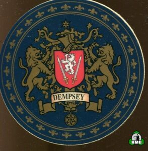 English Heraldic Coaster: Dempsey