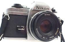 NIKON FG-20 SLR Camera With Nikon Nikkor 50mm f/1.8 Lens - N46