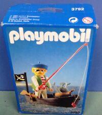 (O3792) playmobil pirate pêcheur ref 3792 4291 4290 en boite complète