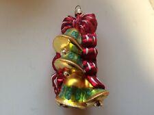 "Christopher Radko ""Dainty Jingle Bells� Full Size Glass Ornament"