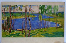 Original Ukrainian Realism Impressionism Painting Automn Landscape Vintage 1973