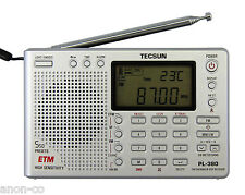 TECSUN PL-380 (Silver Color) DSP PLL World Band Radio    << ENGLISH VERSION >>