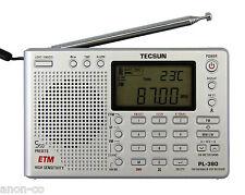 TECSUN PL-380 (Silver Color) DSP PLL World Band Radio    << ENGLISH VERSION >>