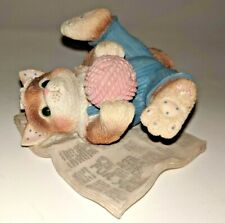 Enesco Calico Kittens Head Over Heels Fur You Figurine Cat Kitty on back 1997