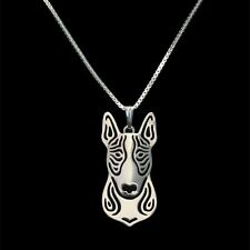 Bull Terrier Pendant Necklace Silver ANIMAL RESCUE DONATION