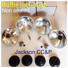 """Autopal verre H1 & H2 5 3/4"""" Projecteur Set 2x2 Inc 12 V ELTA ampoules 4 Triumph Stag"""