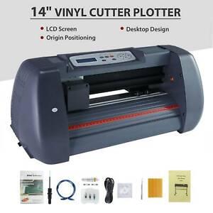 """14""""Vinyl Cutter / Plotter, Sign Cutting Machine w/Software+Supplies LCD screen"""