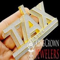 "Yellow Gold Tone Real Sterling Silver Tax Free Big Bold Custom 2.5""x3.75"" Charm"