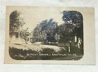 * 1910 Street Scene GRAYVILLE ILLINOIS Real Photo Postcard