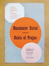 More details for manchester united v dukla prague european cup 1957/1958 *munich season exc cond*