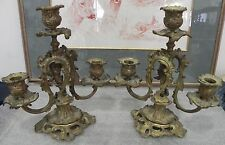 chandelier 1750/70- paire ancien bougeoir bout de table rocaille Louis XV bronze