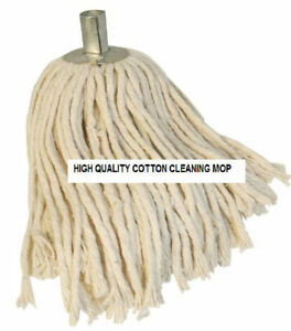 2 x Mop Head Pure Cotton String with Steel Socket Refill Floor Tile Cleaning
