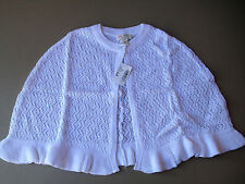 NEW The Children's Place Girl's White Communion Cape Sweater Wedding Size 5/6