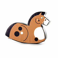 Implay Soft Play PVC Foam Children's Chestnut Brown Horse Rocker Activity Toy