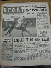 "14/05/1954 Sport Magazine: Vol.16, No.331 - ""Chatsworth Won 9-2"" Horse Racing [F"