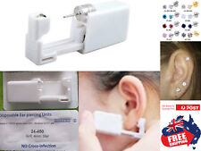 Disposable Sealed Ear Piercing Gun Tool With 316L Ear Stud With Gem Earring 1pc