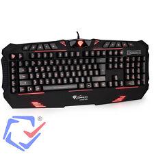 Gaming USB Tastatur Multimedia  Gamer  Keyboard Computer PC Software QWERTY