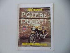 advertising Pubblicità 1973 MOTO DUCATI 750 SPORT